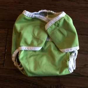 Thirstiest | Green Cloth Diaper | Velcro